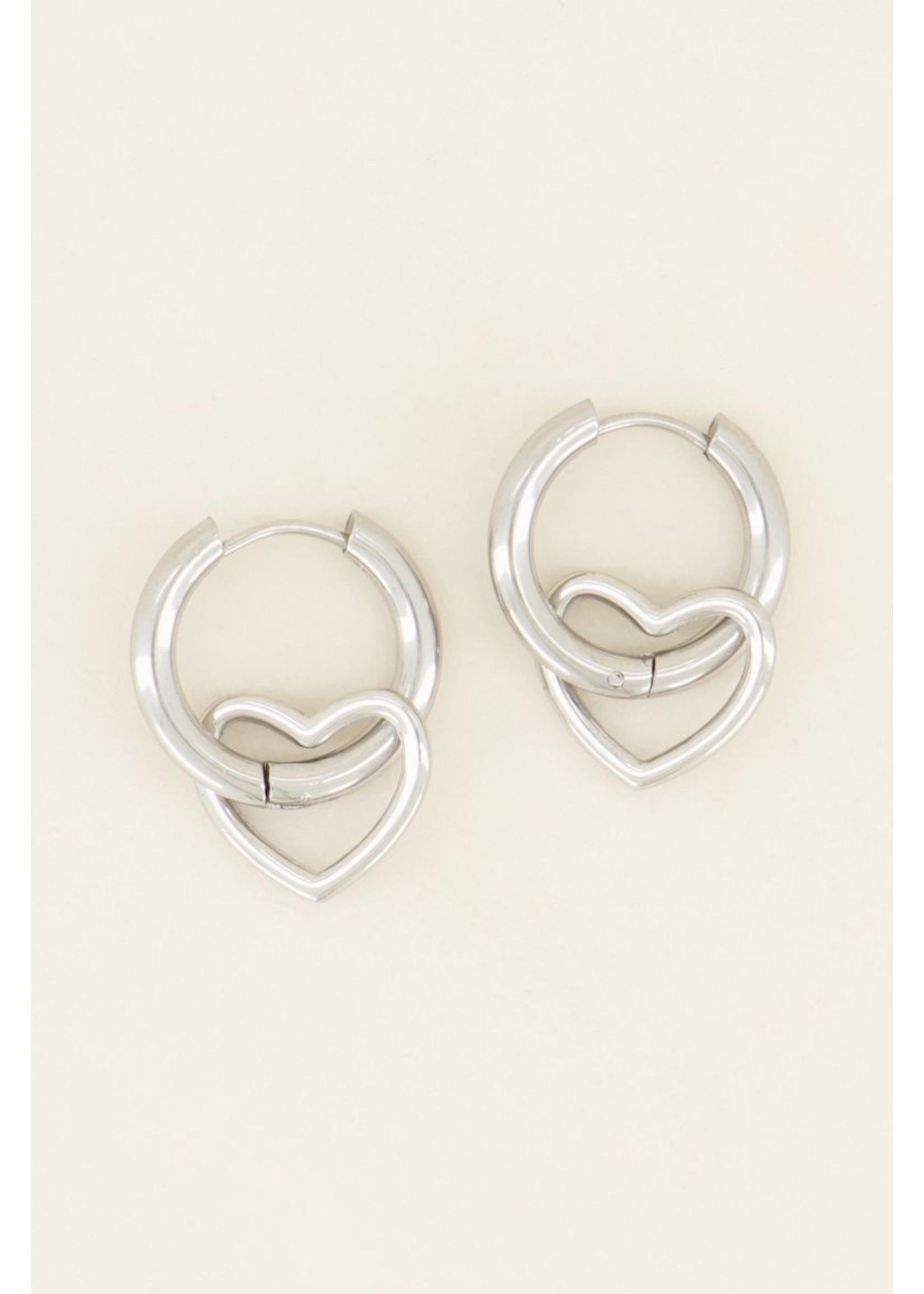 My Jewellery Oorringen met open hartje