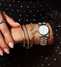 My Jewellery Initial armband chunky GOUD & ZILVER
