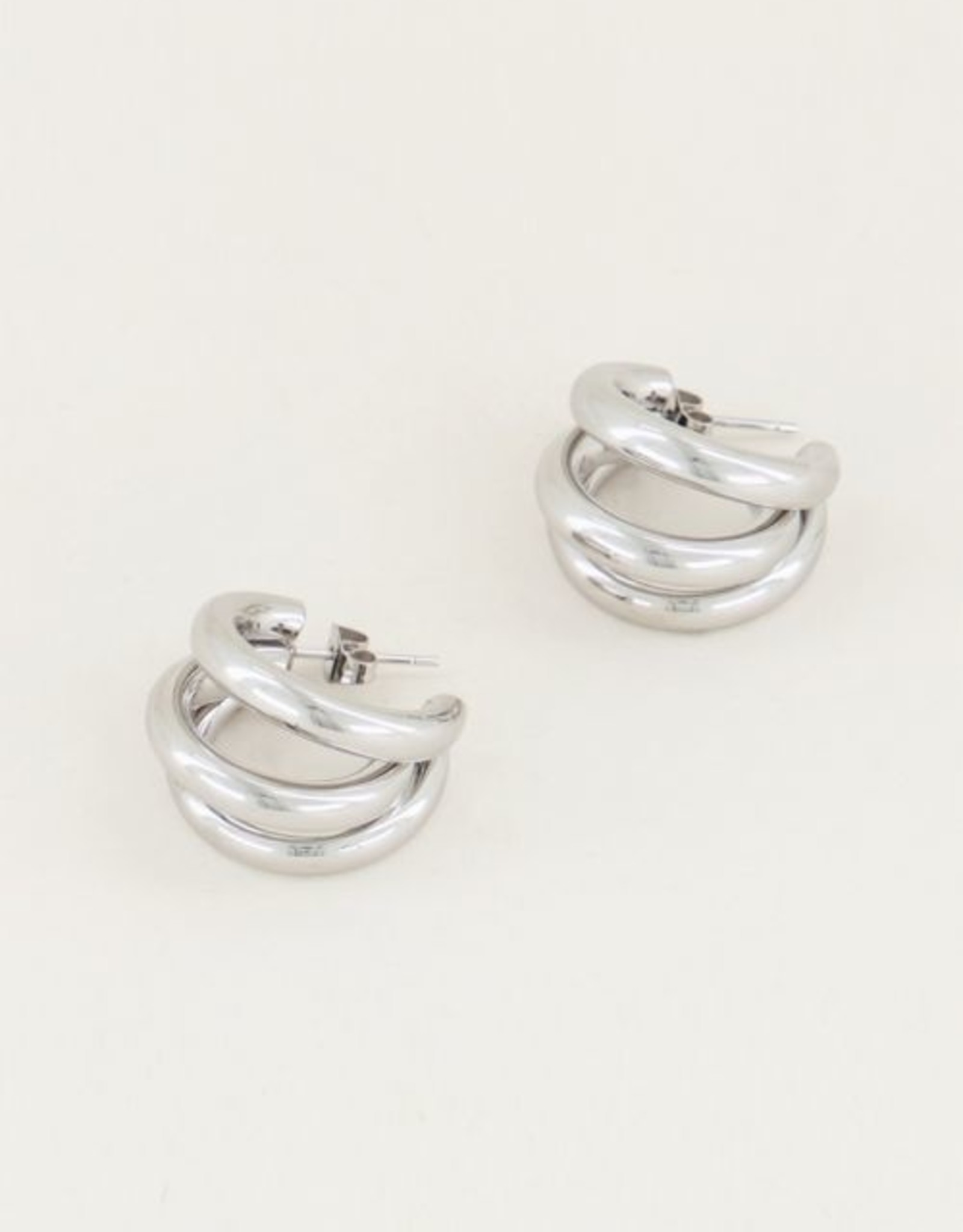 My Jewellery Oorringen triple zilver
