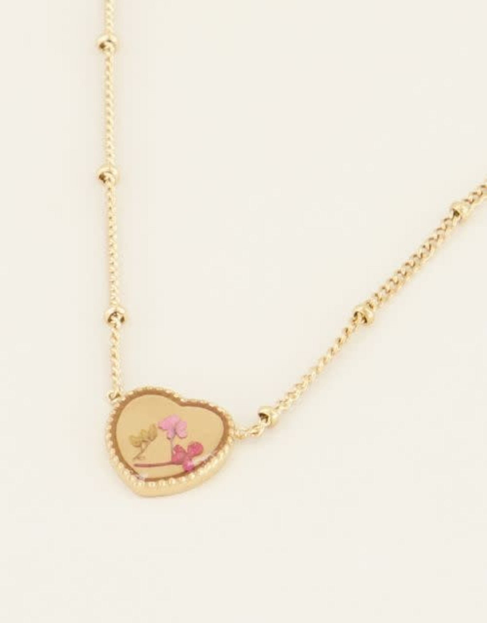 My Jewellery Ketting wildflower hartje