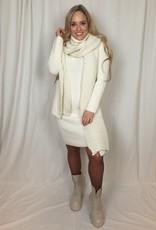 Ladybugs Lange gebreide baggy jurk Shirley beige
