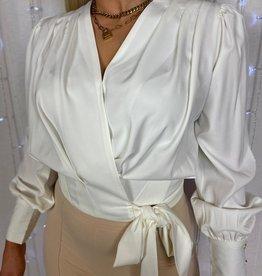 Ladybugs Lieselotte wikkel blouse WIT