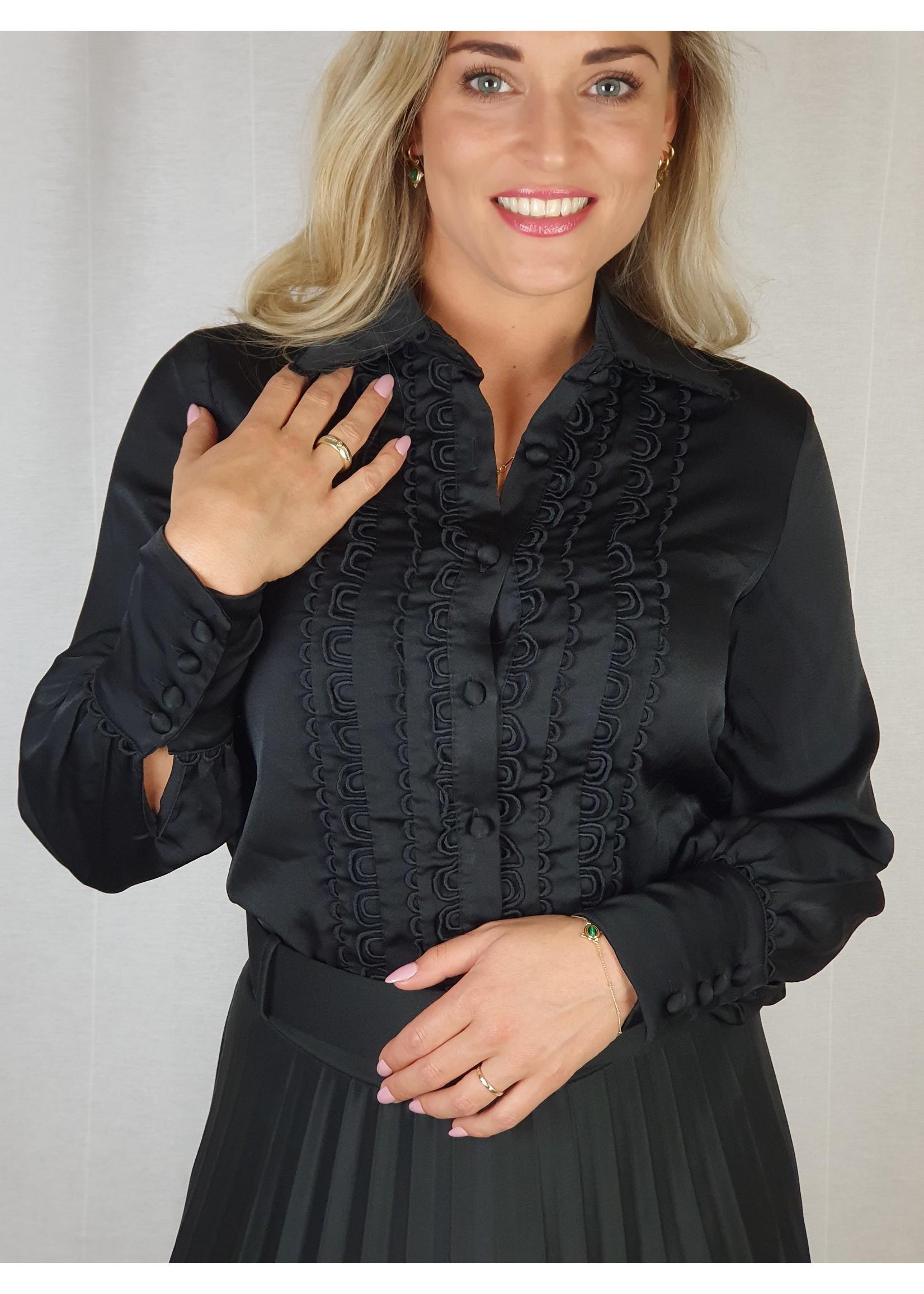 Ladybugs CH254 Evie blouse BLACK