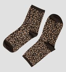 Pinned by K Socks glitter Leopard BLACK