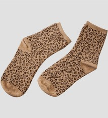 Pinned by K Socks glitter Leopard BEIGE