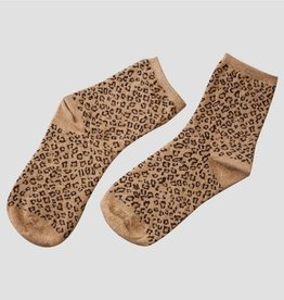 Pinned by K Socks glitter Leopard BEIGE