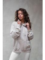 Moost Wanted Unisex hoodie beige van Moost Wanted Passion hoodie Unisex STONE BEIGE