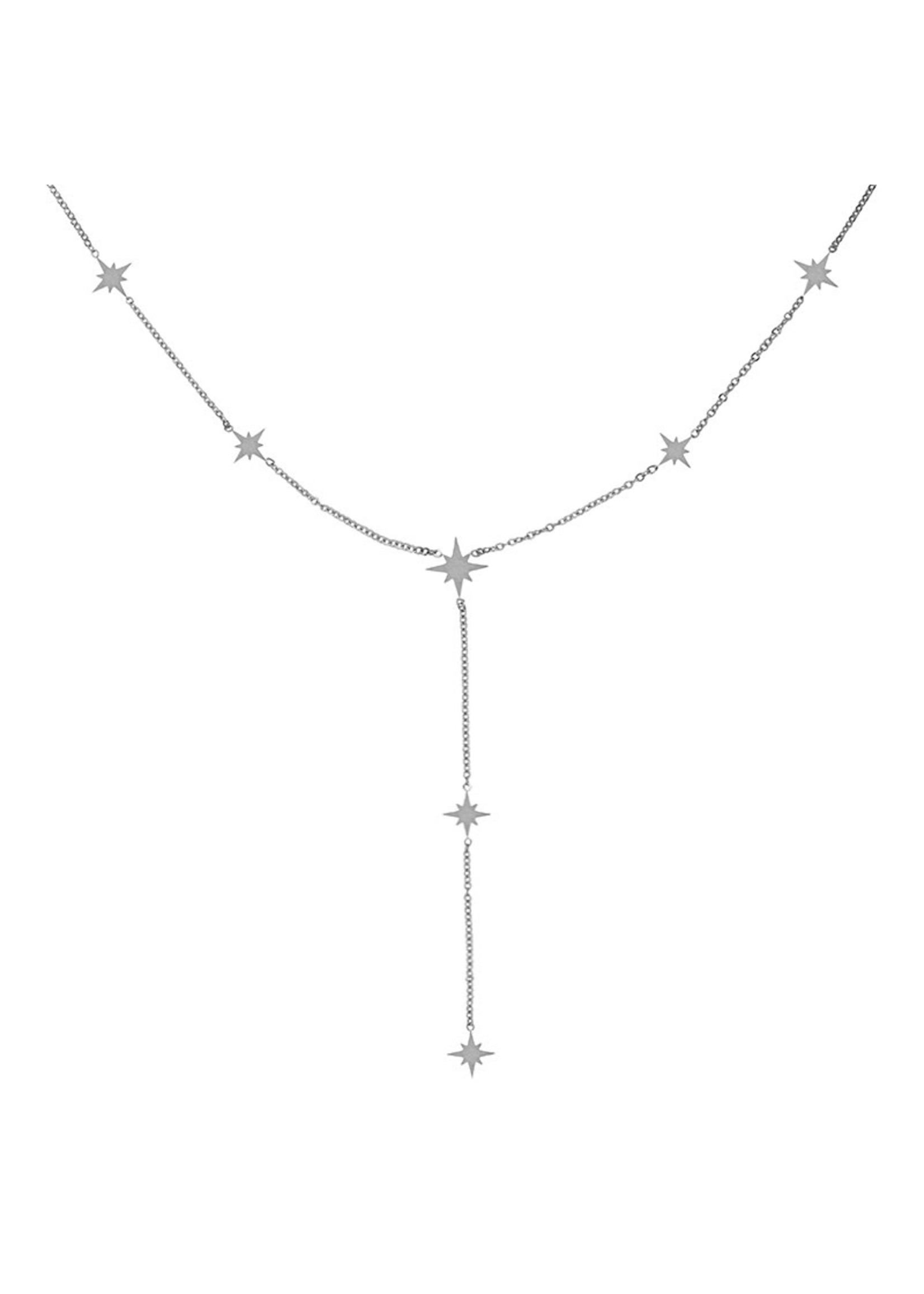 Ladybugs Ketting stainless steel STARS SILVER