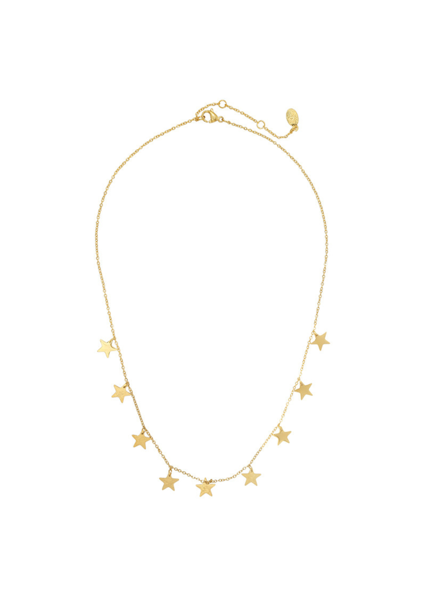 Ladybugs Ketting stainless steel Only stars GOUD