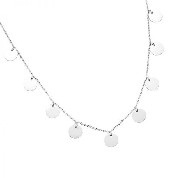 Ladybugs Ketting stainless steel 7 coins ZILVER