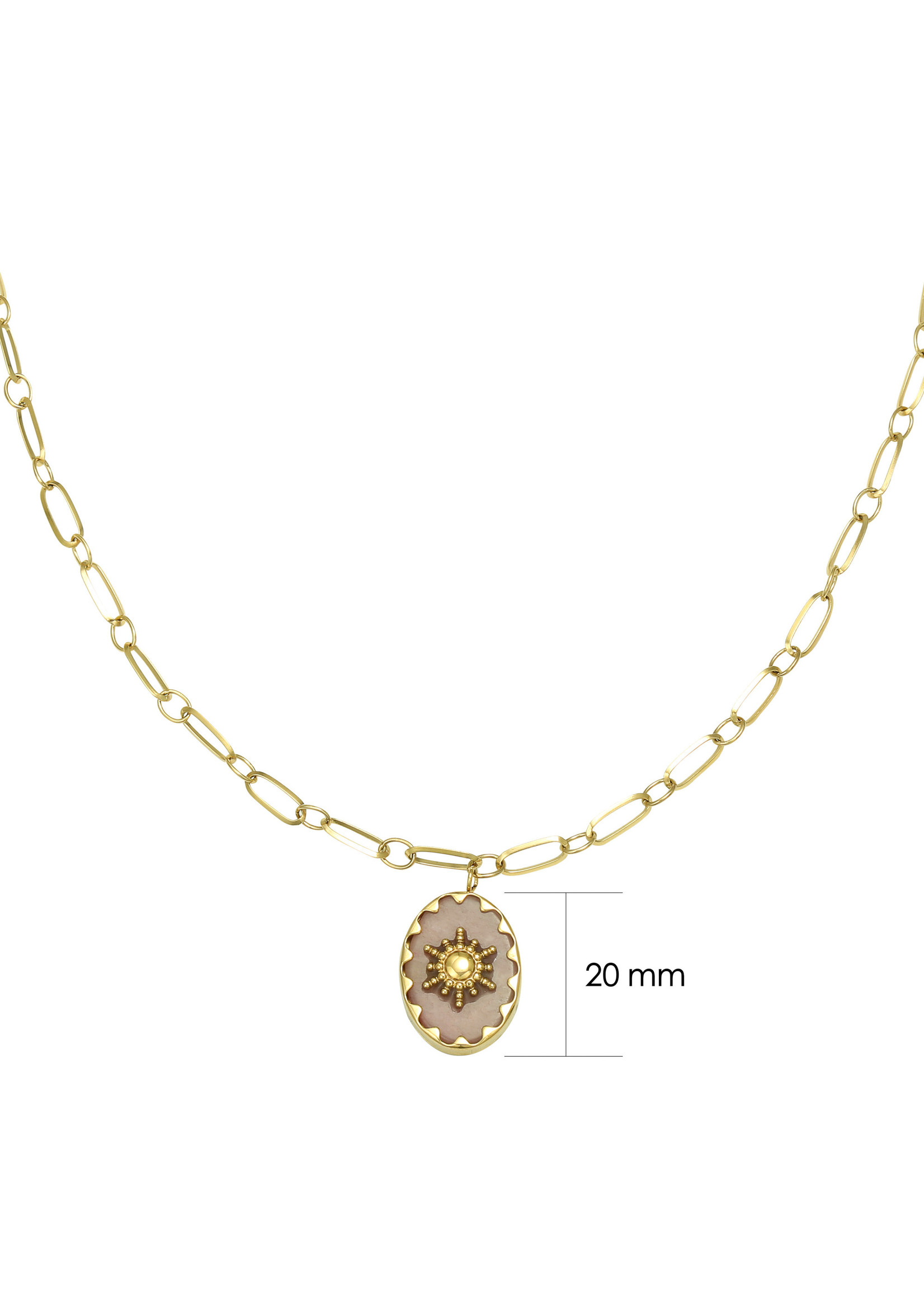 Ladybugs Ketting stainless steel Ray of light GOUD/ROZE
