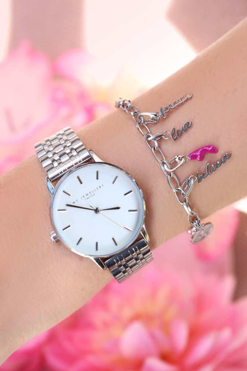 Ladybugs Horloge stainless steen verkleurd niet ZILVER