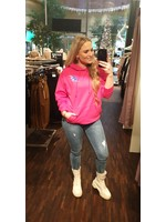 Pinned by K Thunder hoodie back print PINK