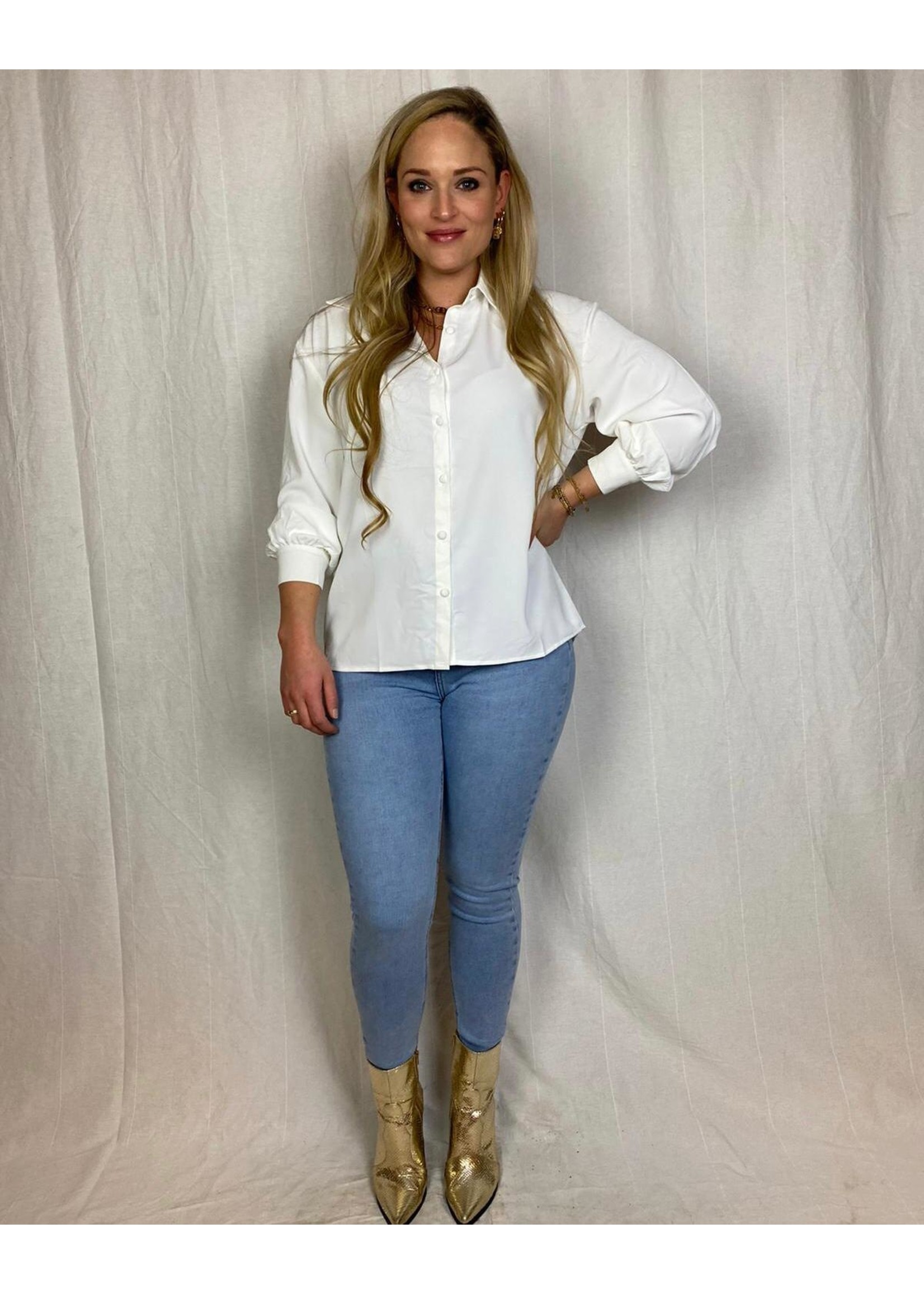 Ladybugs Super high waist skinny jeans Queen Hearts JOANNE LICHT BLAUW