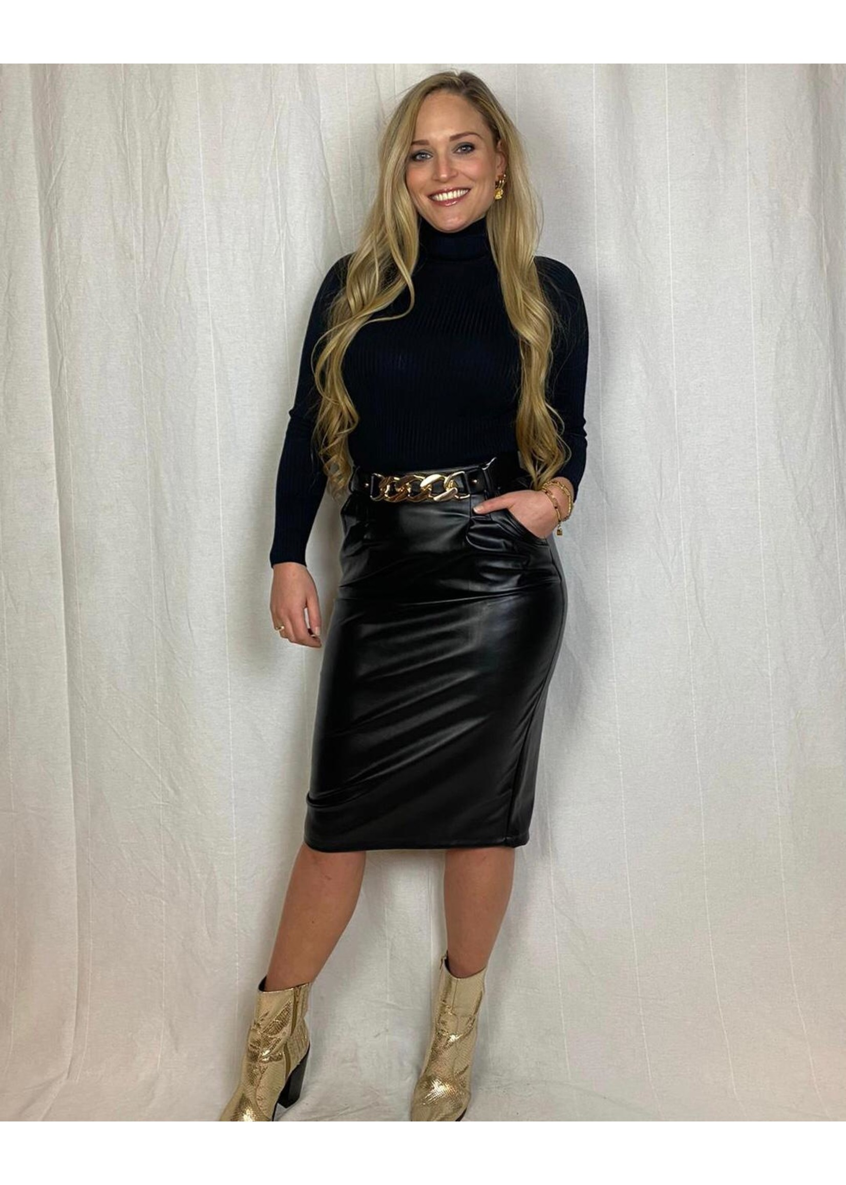 Ladybugs Olivia leather skirt BLACK