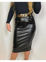 Ladybugs Olivia leather skirt BLACK