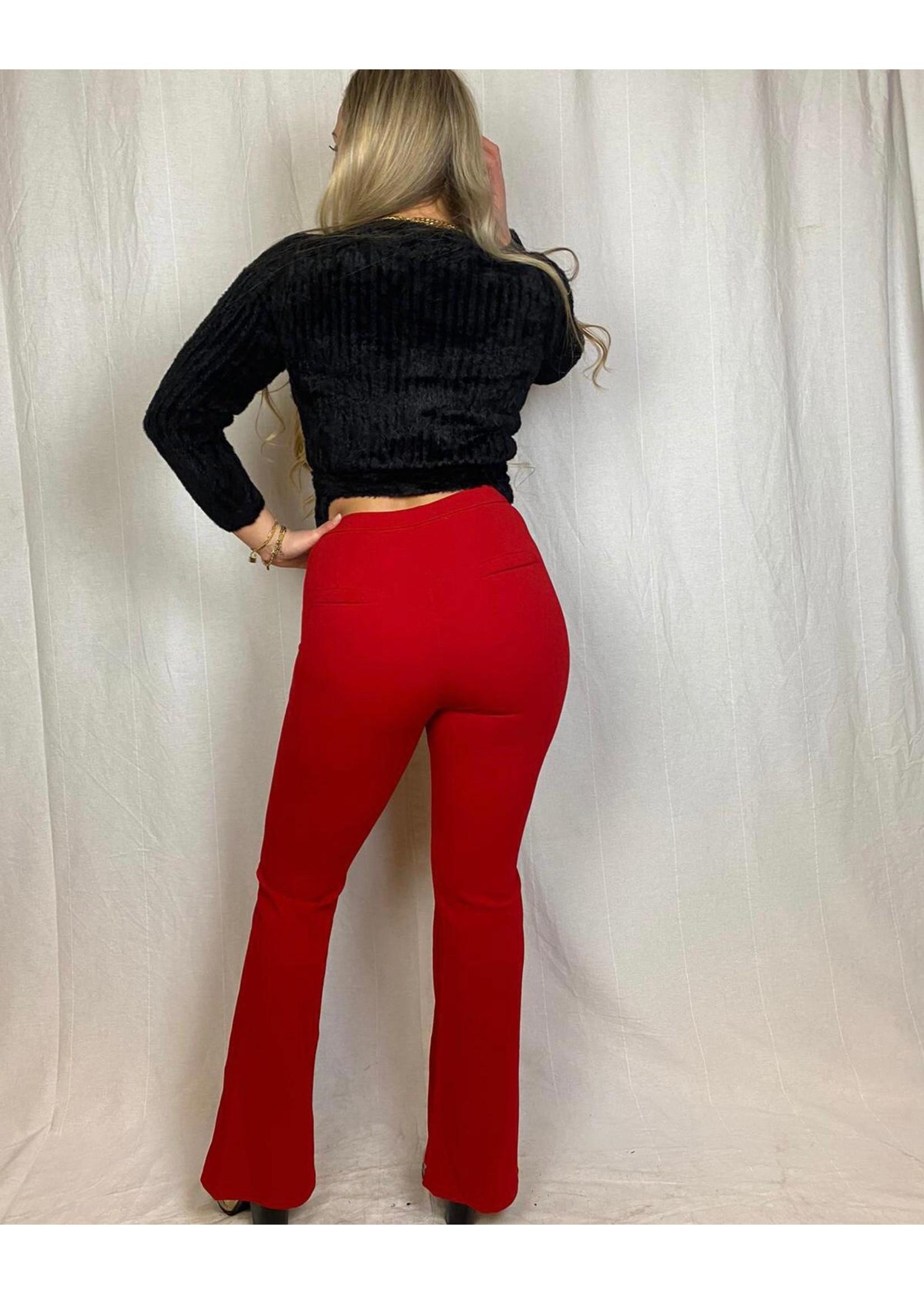 Ladybugs Willemijn super stretch pantalon ROOD