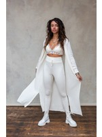 Moost Wanted Gebreide comfy broek legging Fierce knitted pants OFF WHITE