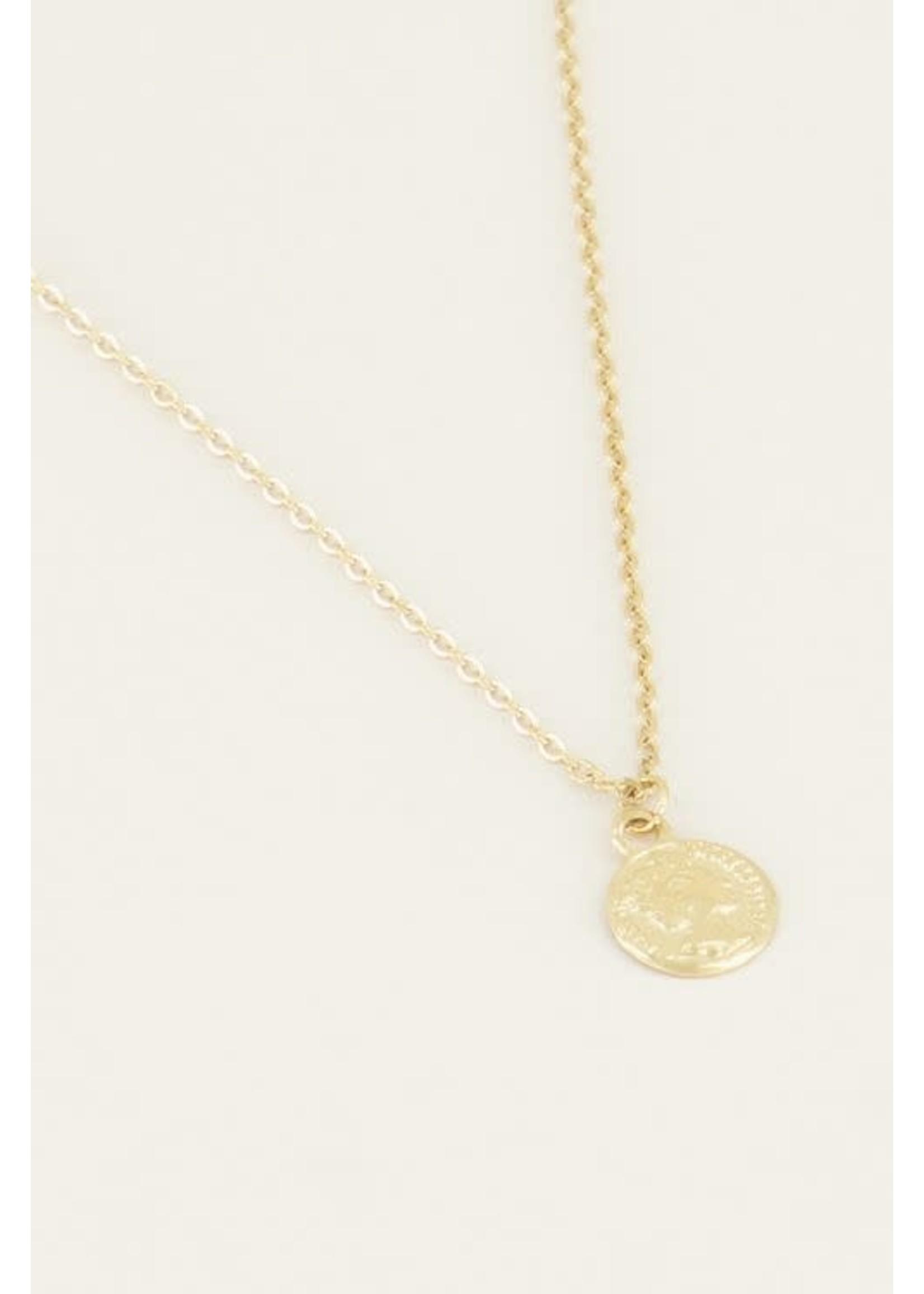 My Jewellery Klein kettinkje met muntje