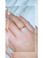 My Jewellery Ringetje van elastiek gekleurde steenGOUD - TAUPE