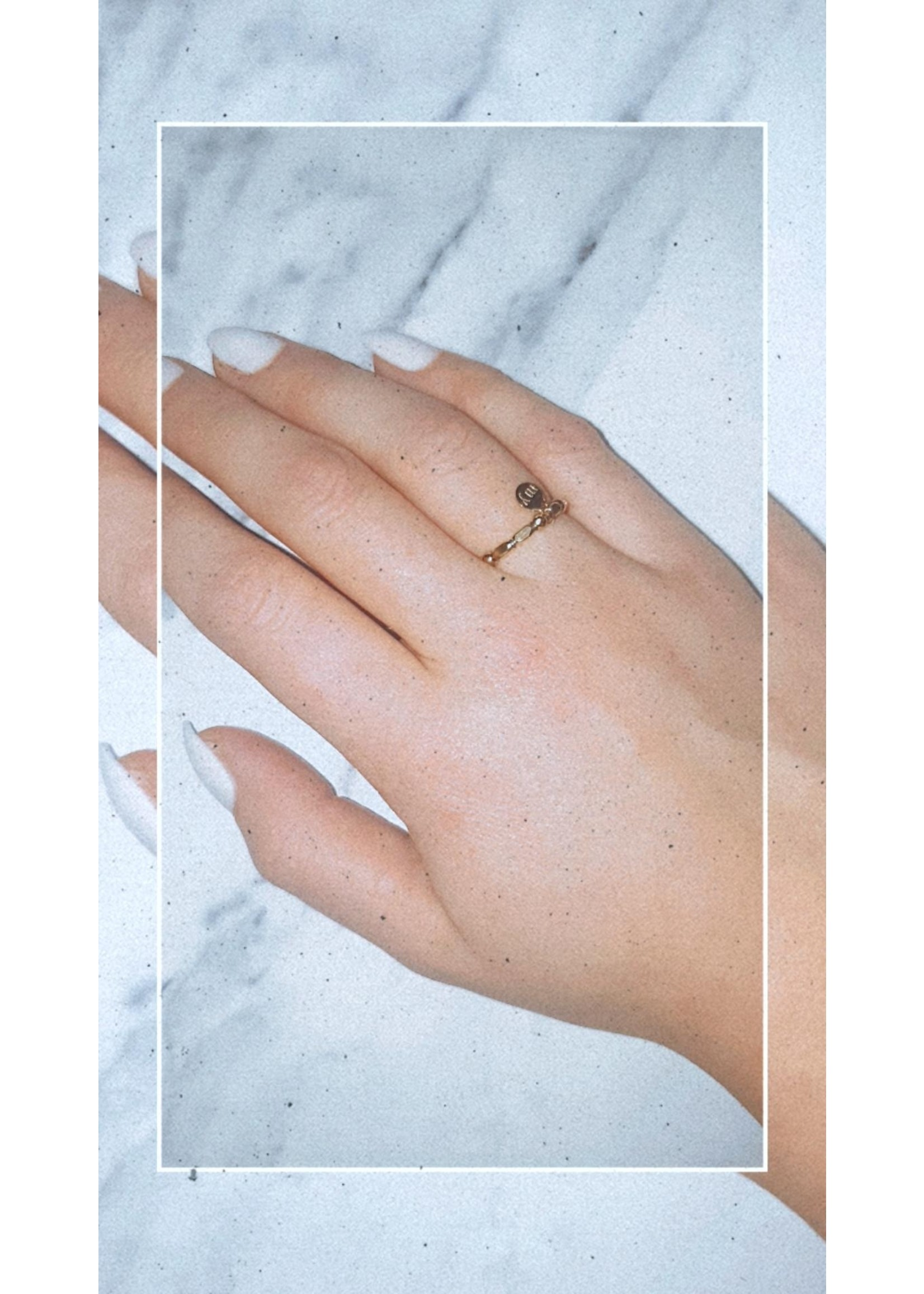 My Jewellery Ringetje van elastiek 1 GOUD