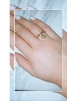 My Jewellery Ringetje van elastiek met munt GOUD