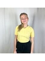 Ladybugs Shirtje strepen SANDY zacht geel