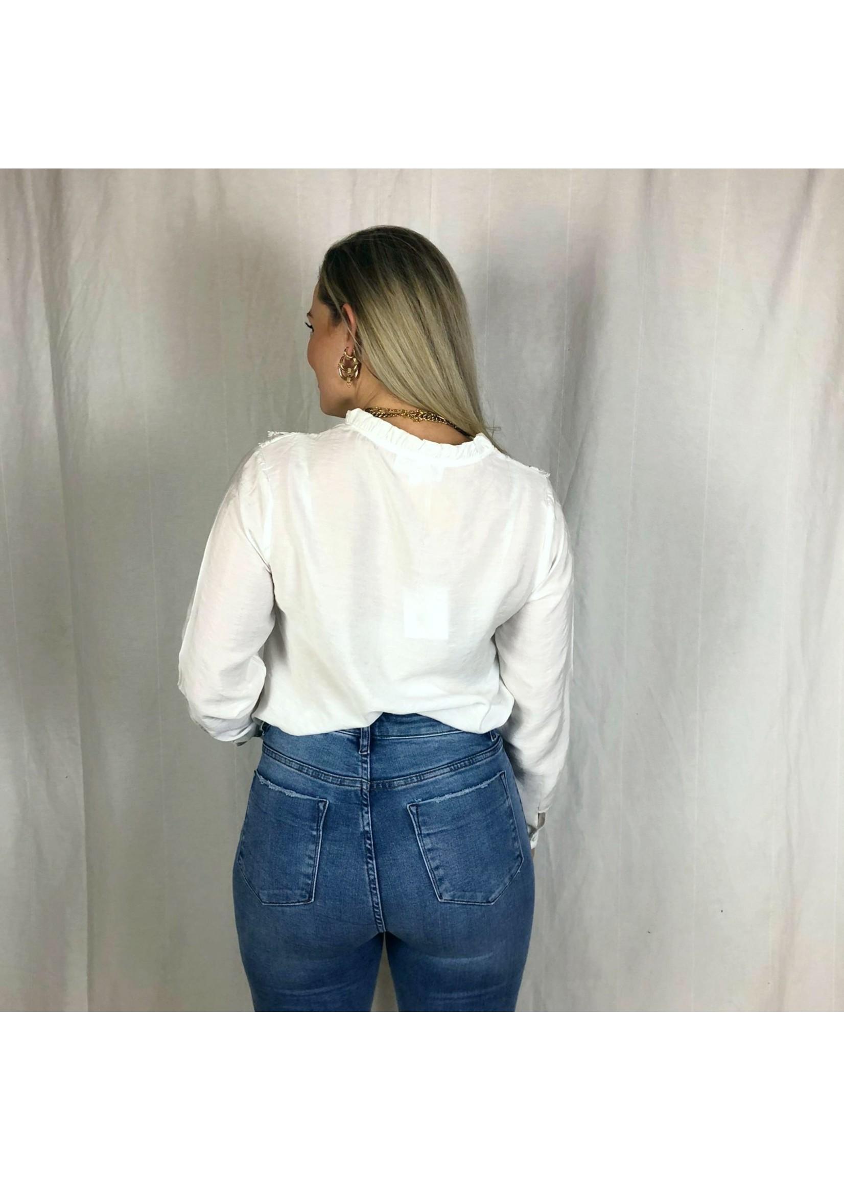 Ladybugs Super high waist jeans JOANNA medium blue