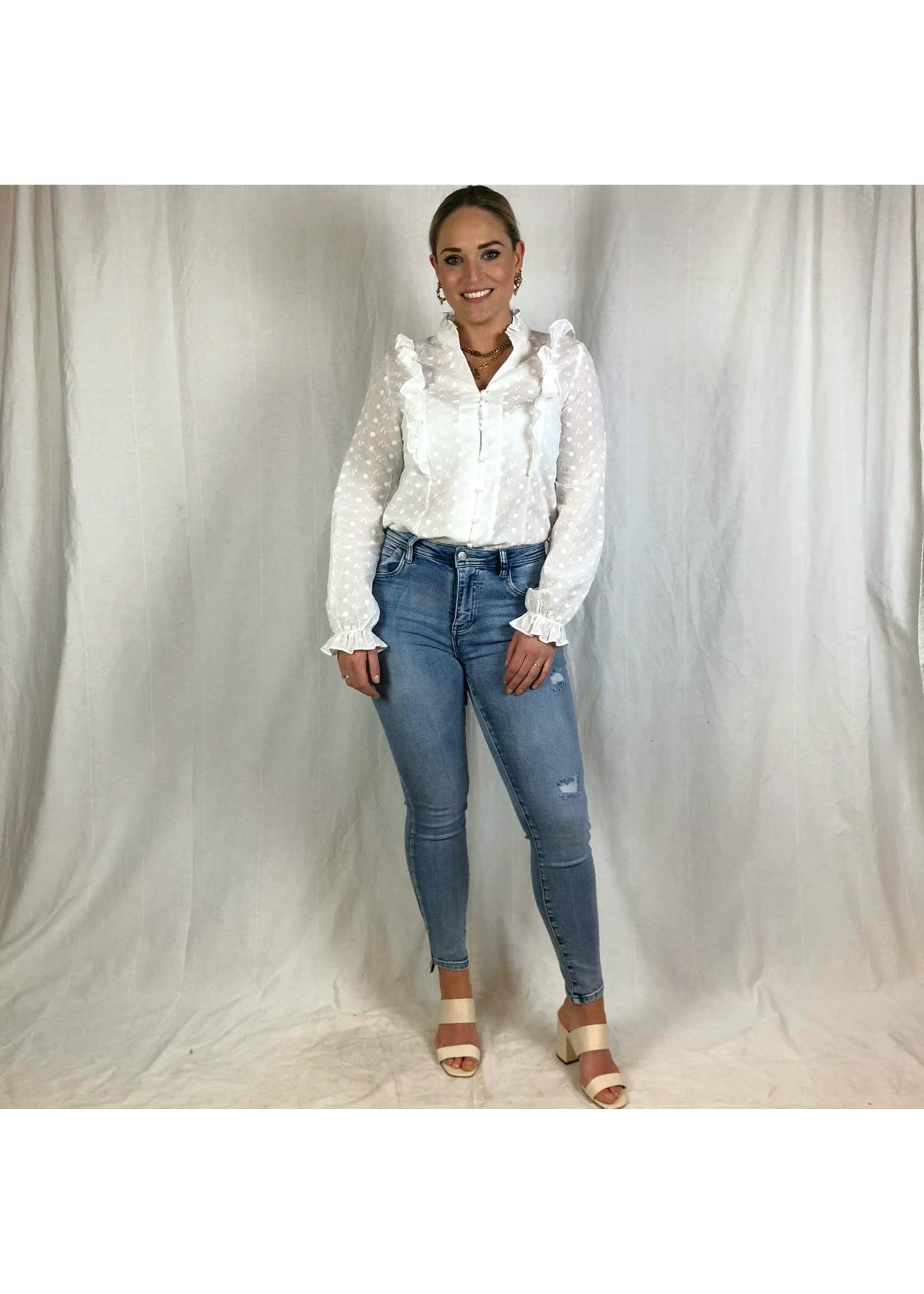 Ladybugs High waist jeans SAAR medium blue