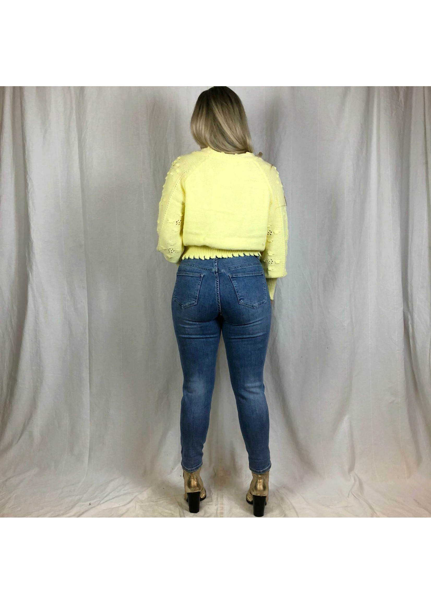 Ladybugs Mom jeans met scheuren ROSIE denim