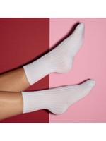 Pinned by K sokken glitter wit