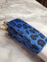 Pinned by K Strap hairy leopard blue