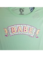 Pinned by K T-shirt Leopard babe mint green