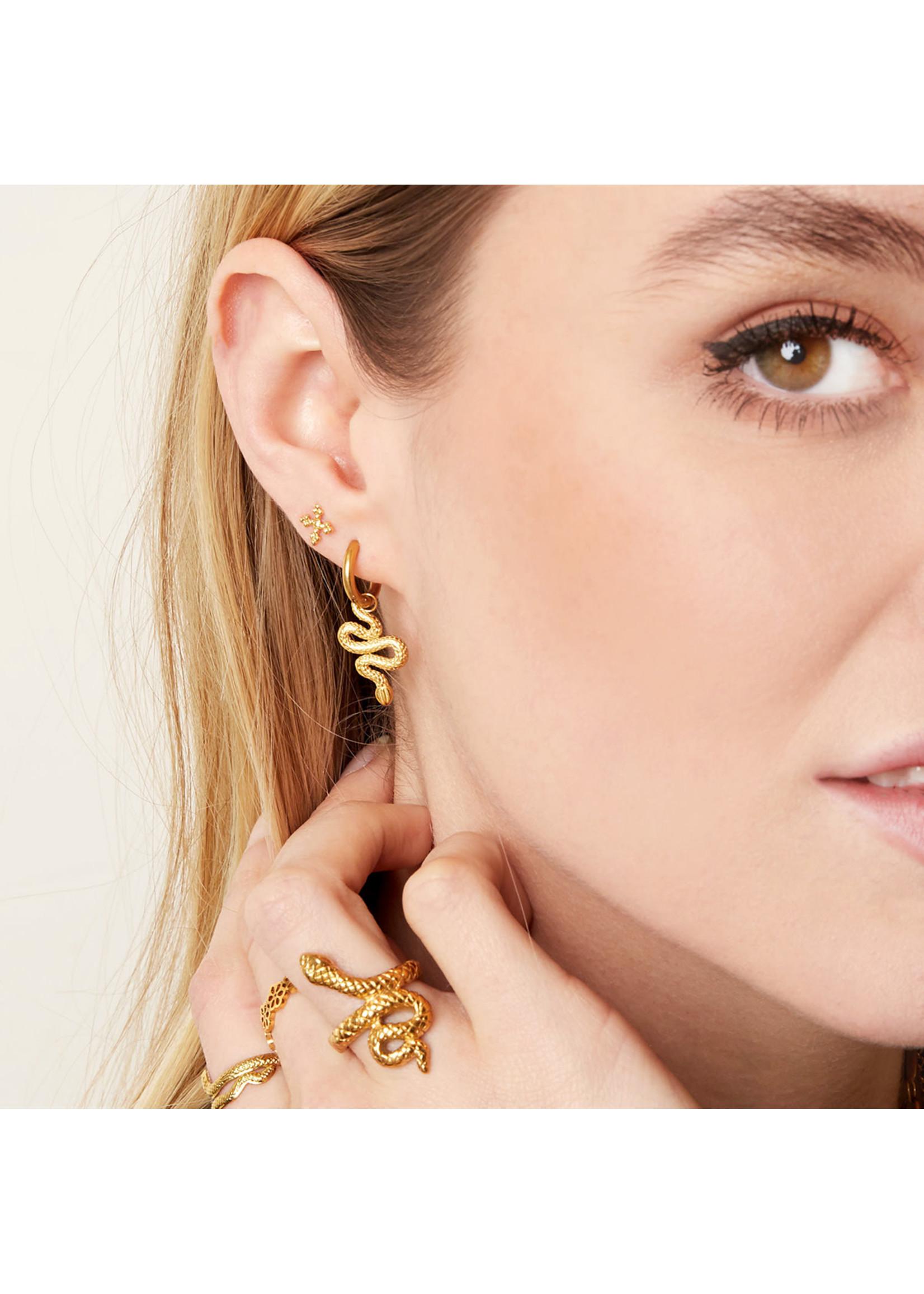 Ladybugs Oorbellen shiny serpent goud