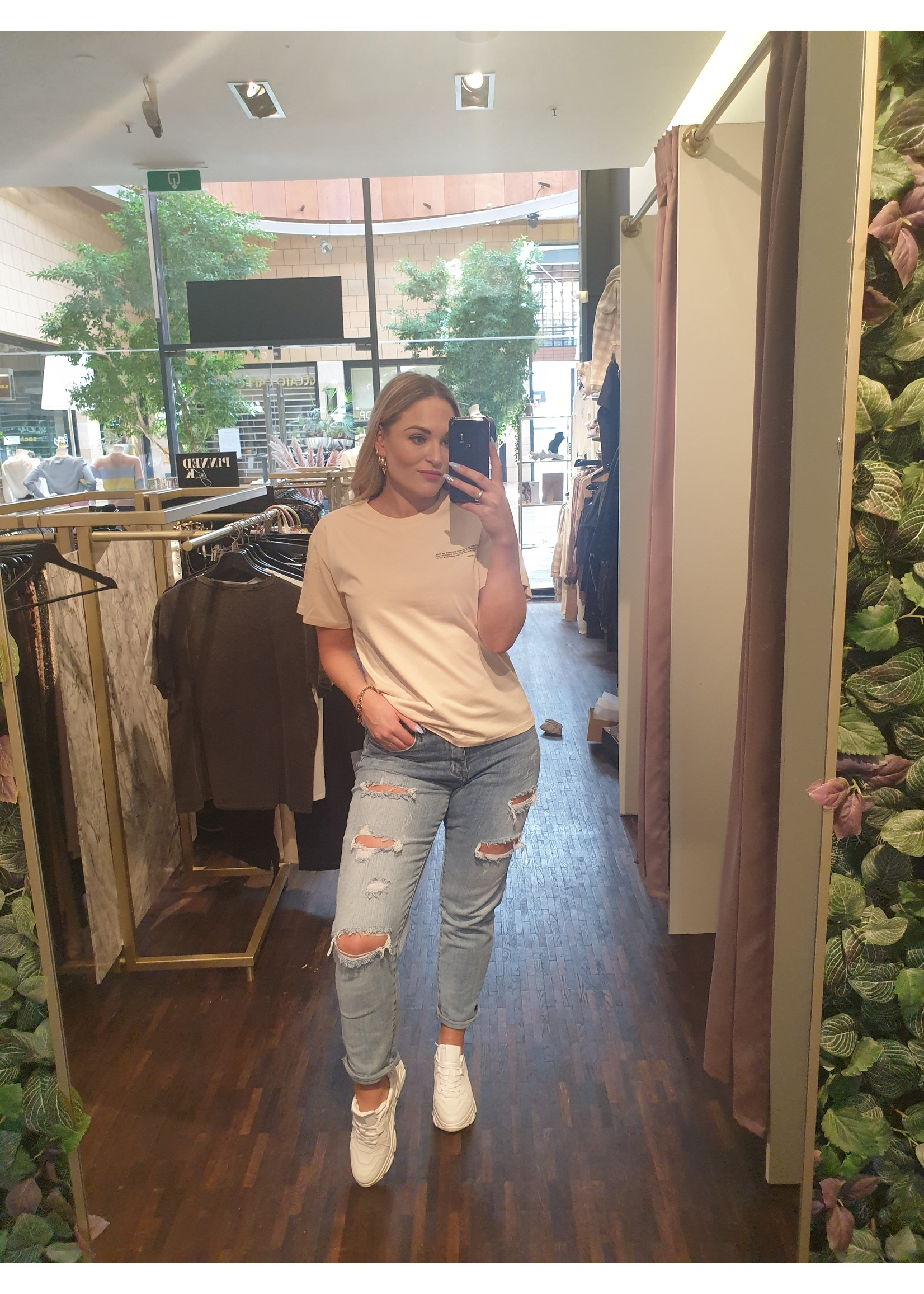 Ladybugs Mom jeans stretch Julia