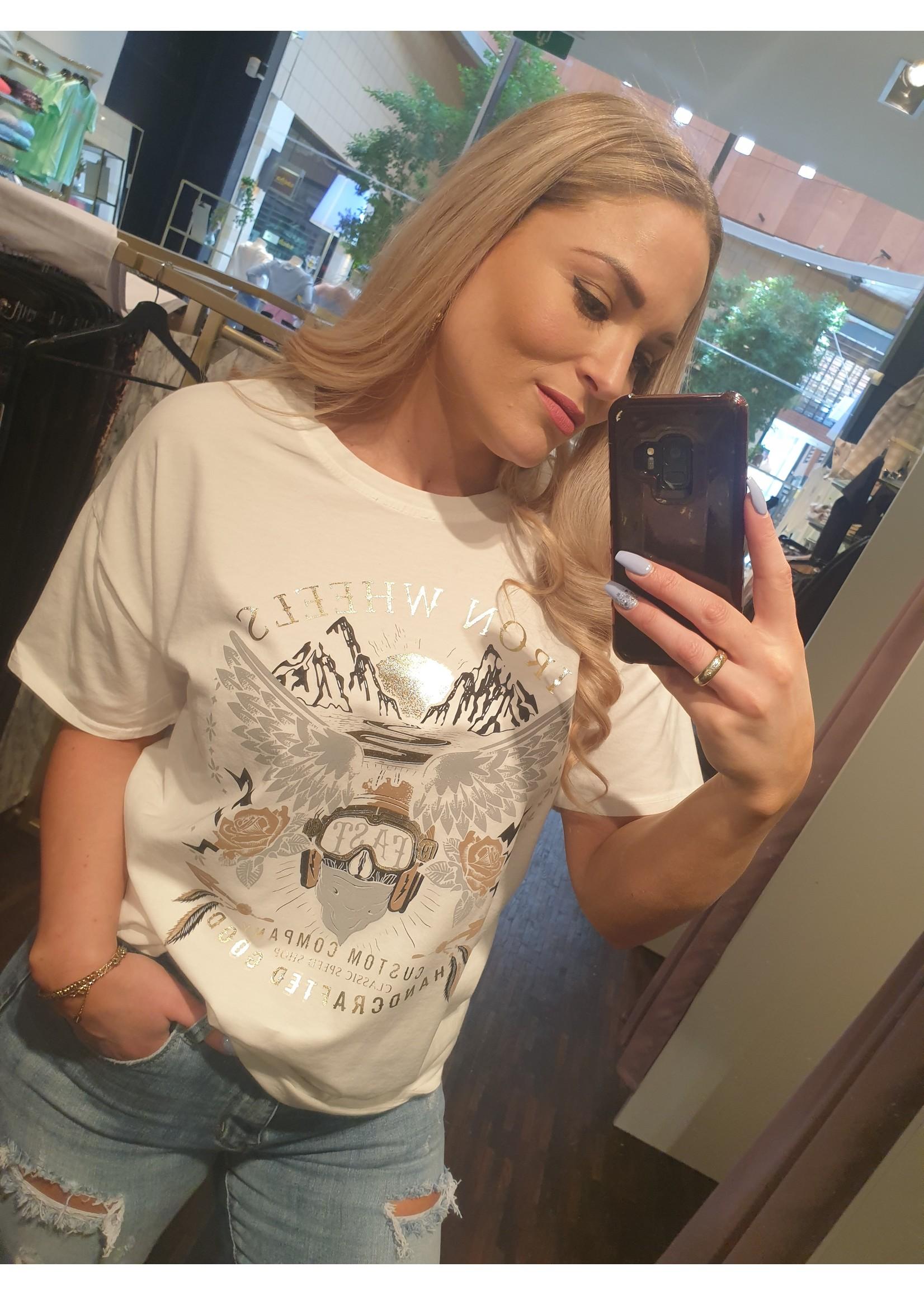 Ladybugs T-shirt oversized print Robin wit