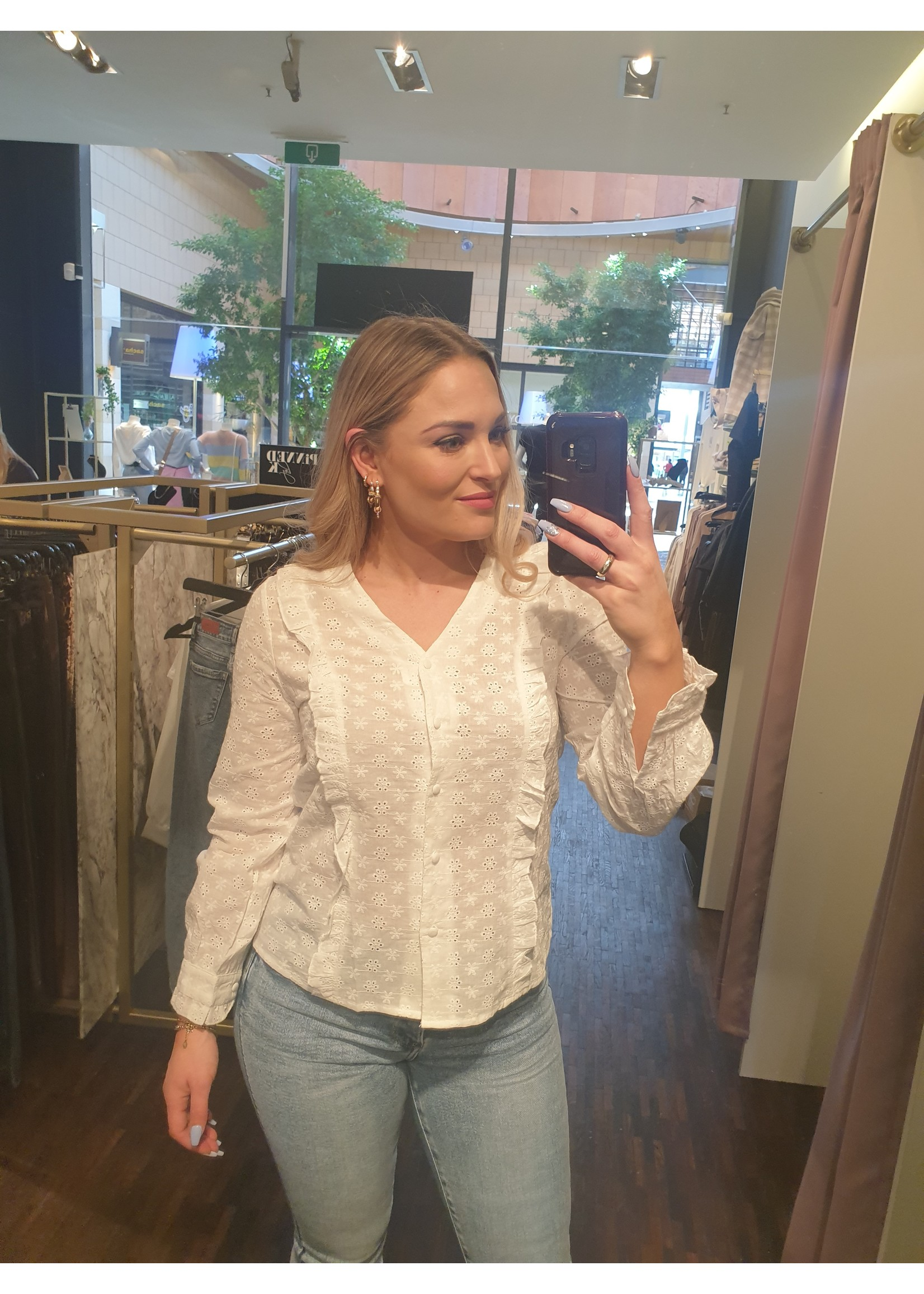 Ladybugs Broderie blouse Anouk wit