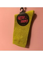 Pinned by K Socks glitter lime green