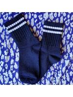 Pinned by K Socks stripe neon white