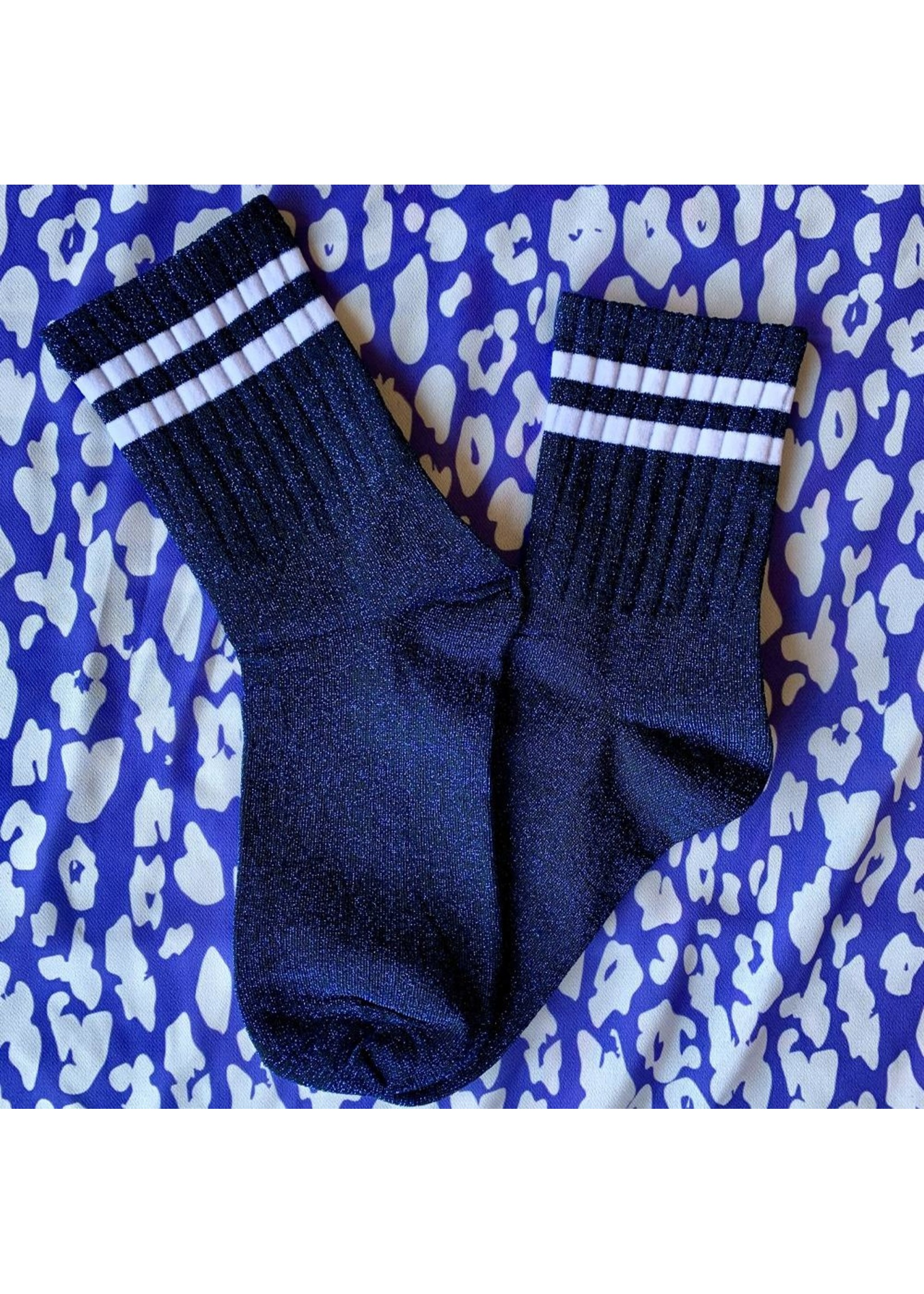 Pinned by K Socks stripe neon white