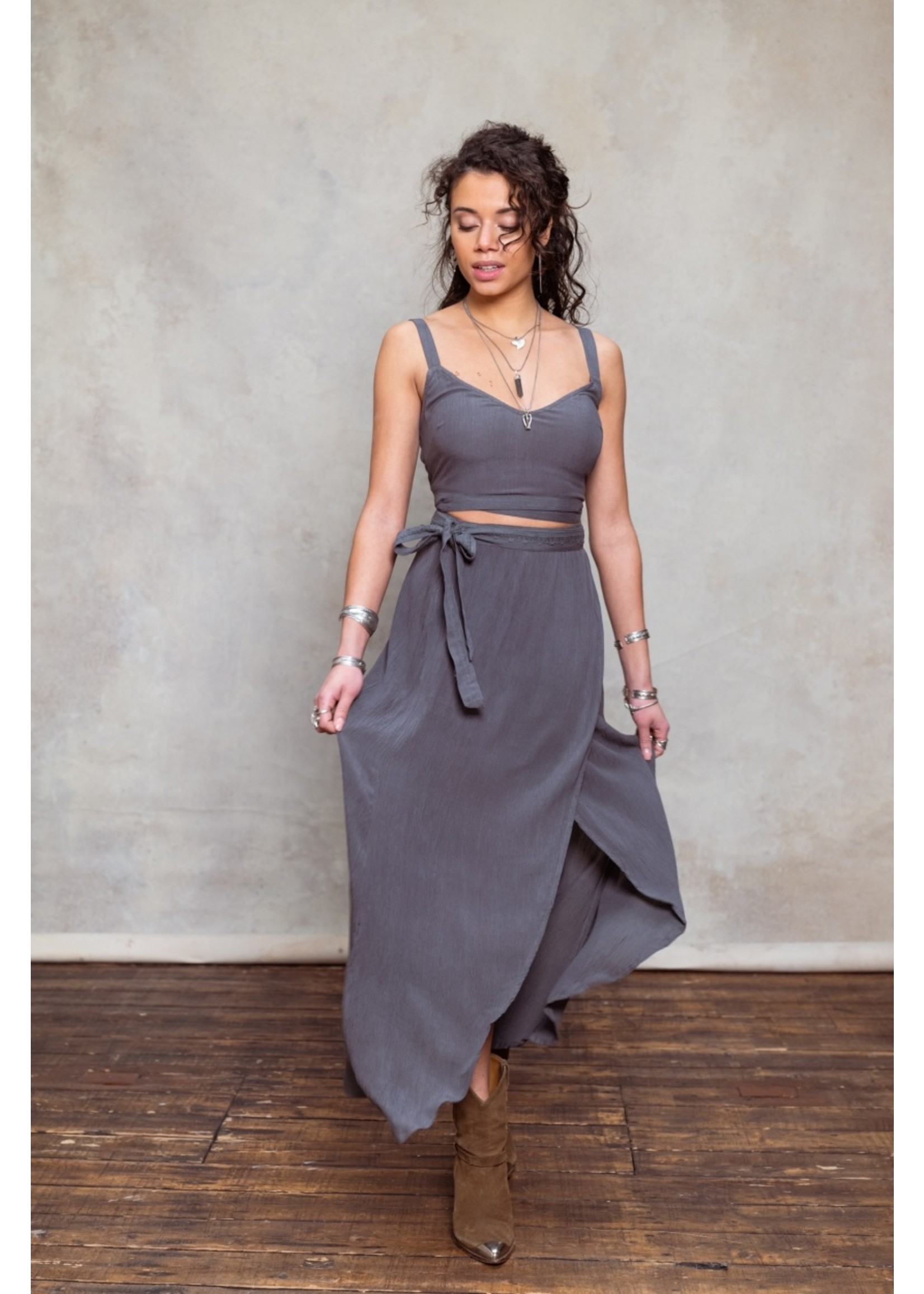 Moost Wanted Angel wrap skirt WASHED GREY