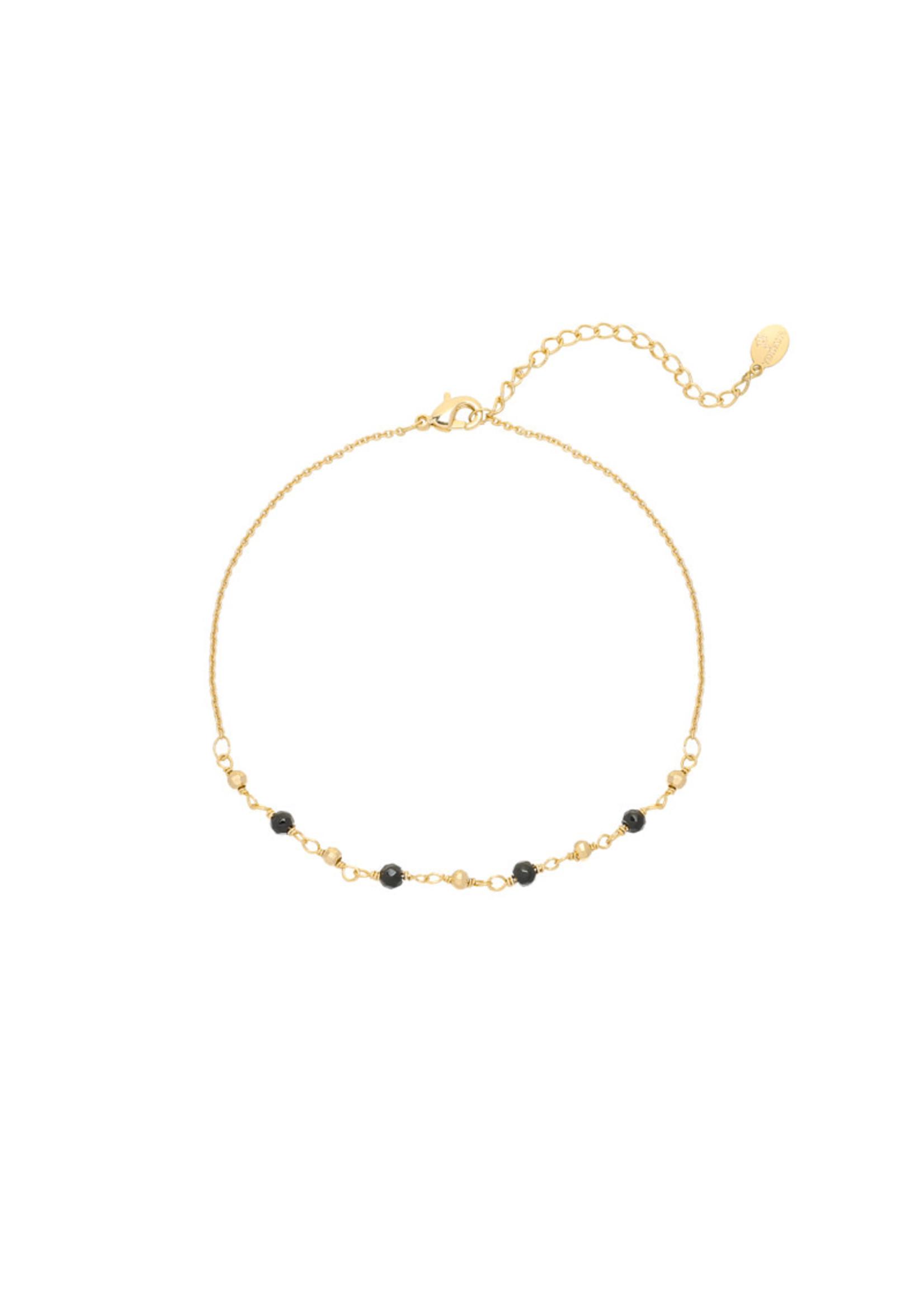 Ladybugs Enkelbandje small beads