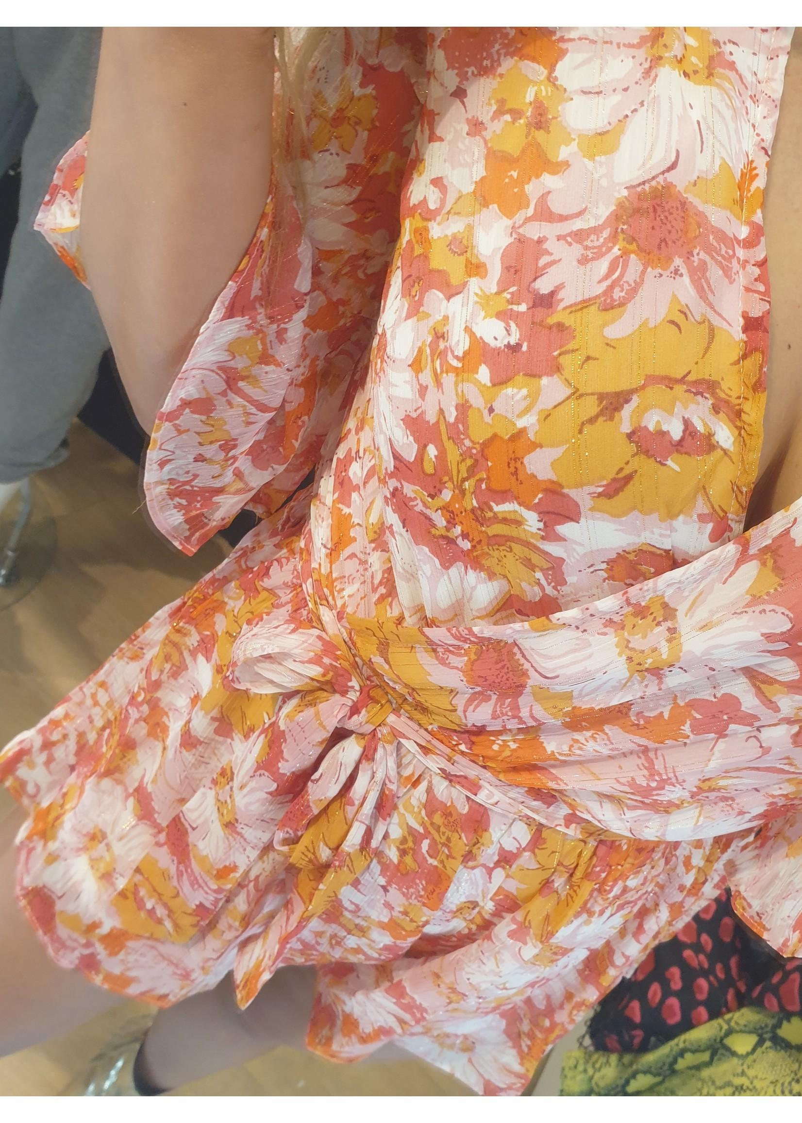 Ladybugs Playsuit bloemen print Bibi ROUGE