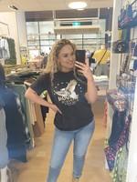 Ladybugs Oversized shirt eagle Sharon BLACK WASHED