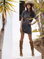 Moost Wanted Mia Eagle T-Shirt dress WASHED GREY