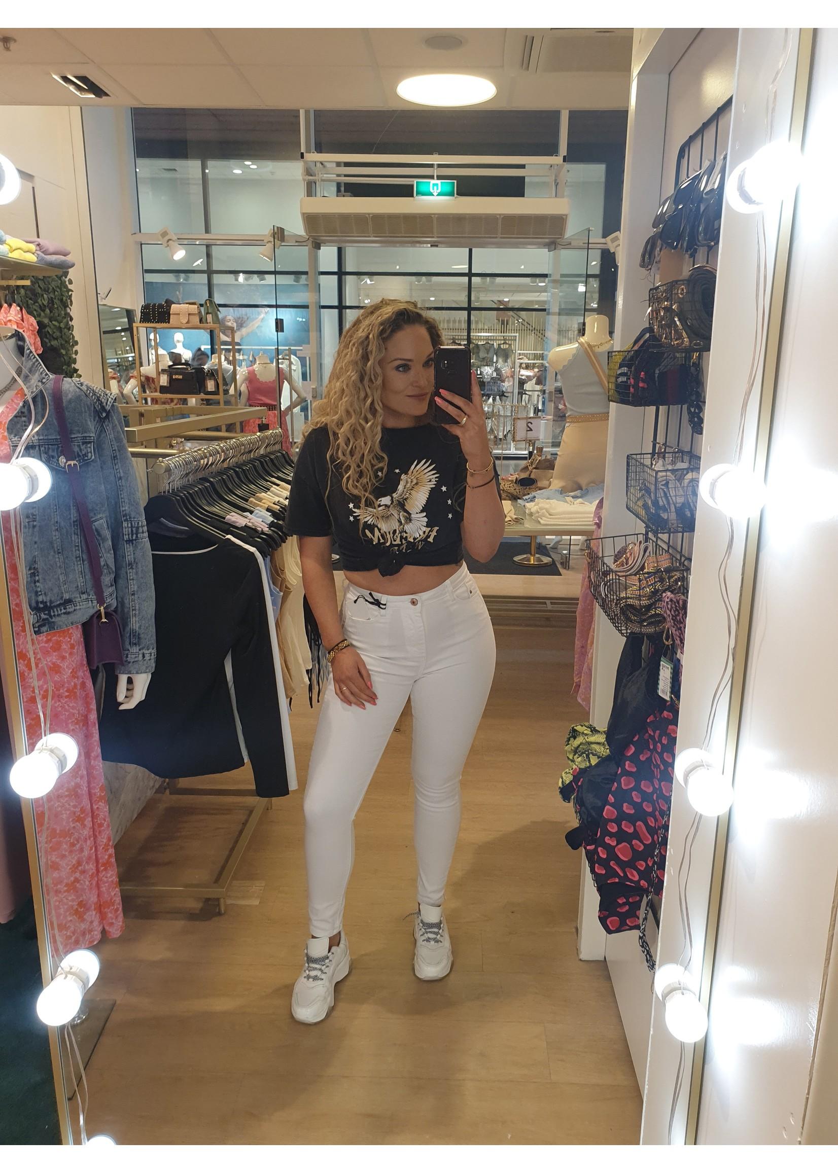 Ladybugs Witte skinny jeans Queen hearts SAAR