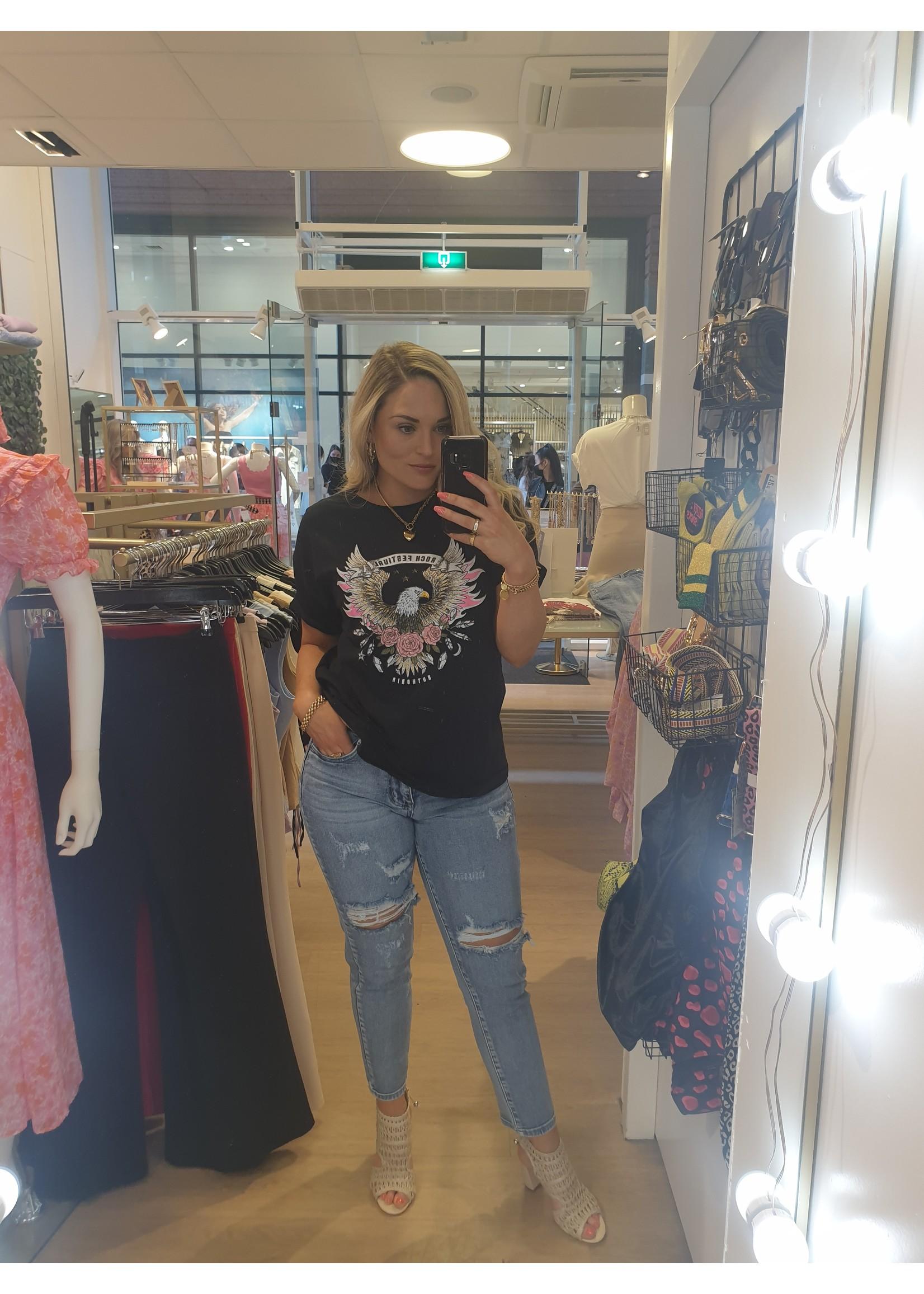 Ladybugs Festival shirt Rosa ZWART
