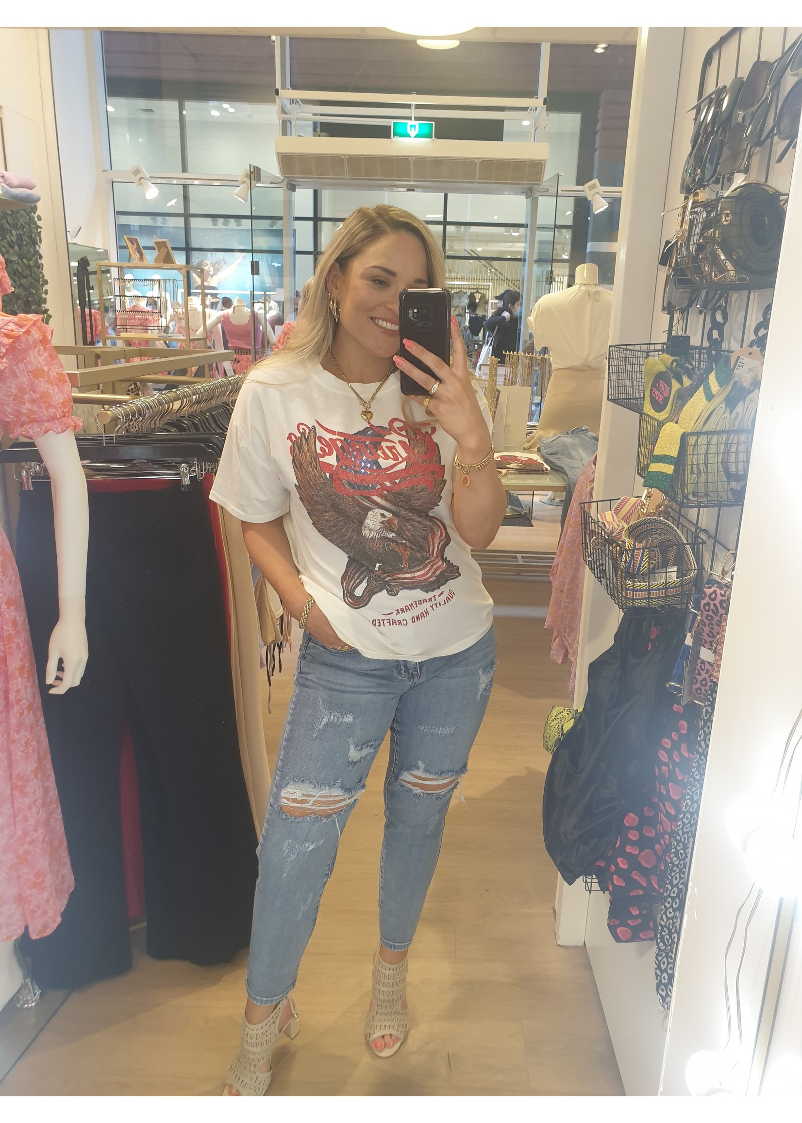 Ladybugs Mom jeans ripped Jet