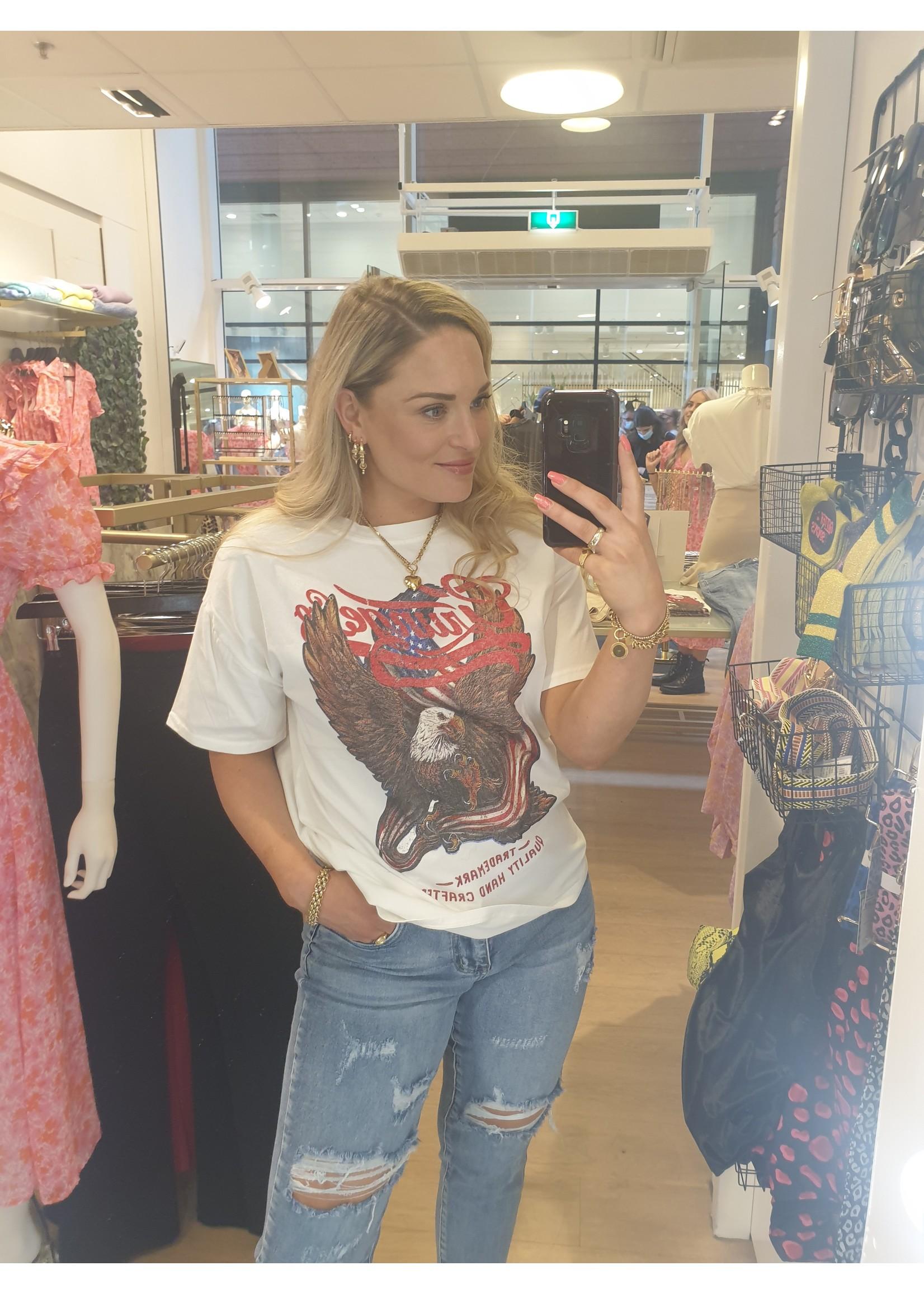 Ladybugs Grunge shirt Maaike OFF WHITE