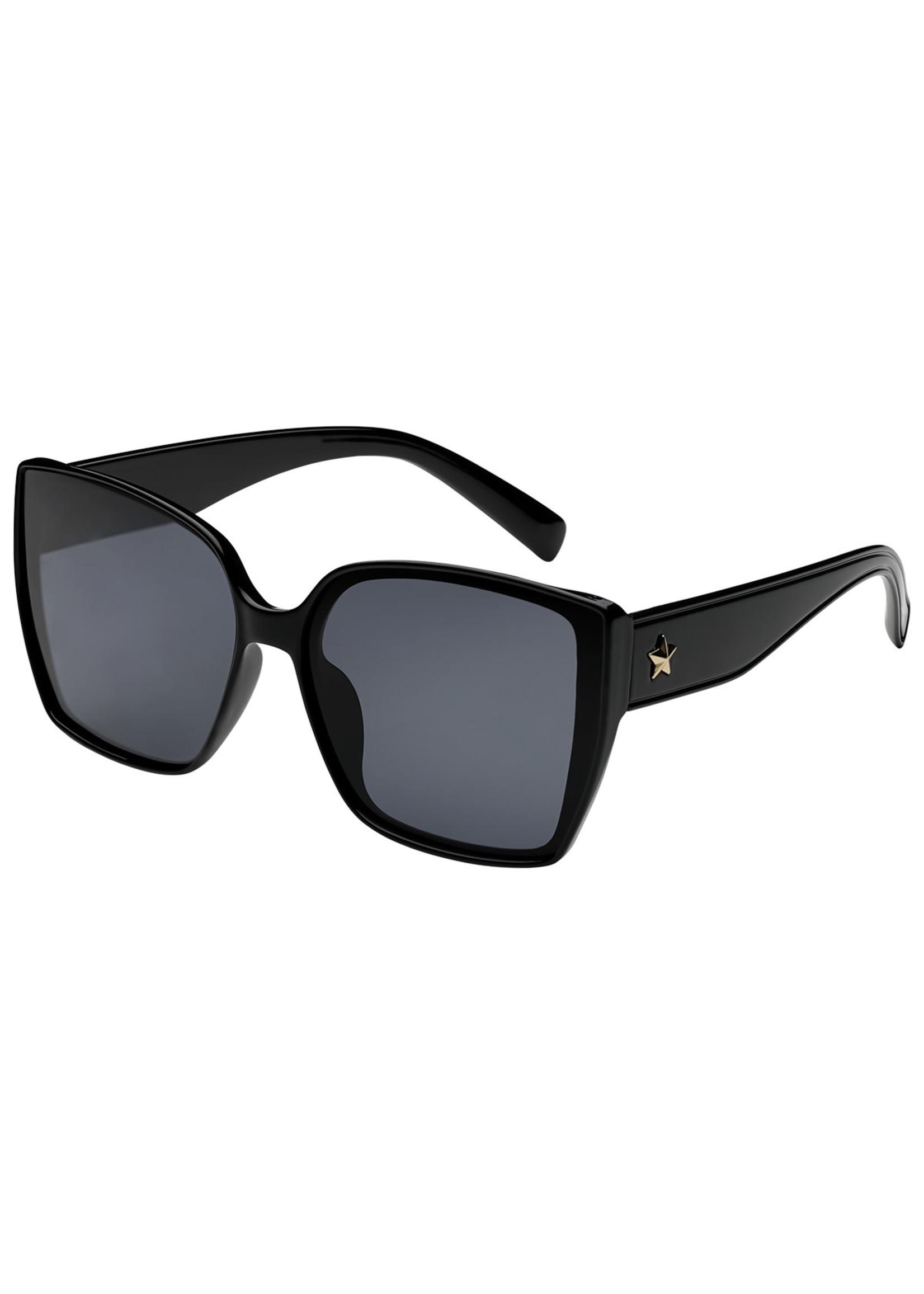 Ladybugs Vierkante zonnebril ster Black